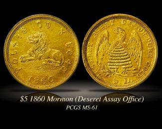 $5 1860 Mormon