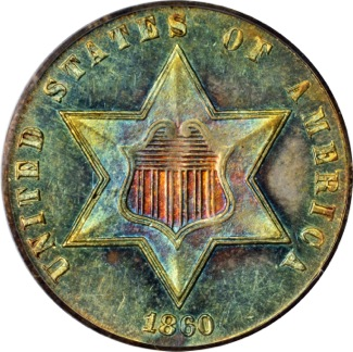 1860 #3cent silver