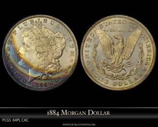 1884 Toned PL Morgan Dollar