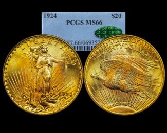 1924 $20 PCGS 66