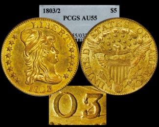 1803/2 $5 PCGS55