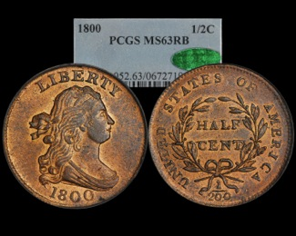 1800 Half Cent