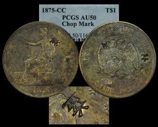 1875 T$1 PCGS50