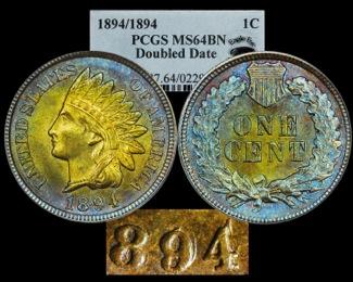 1894/1894 1C PCGS 64BN