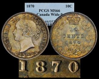 1870 10C PCGS66