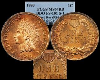 1880 1C PCGS64RD DDo FS-101