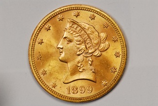1899 $5 Gold