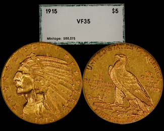 1915 $5 Gold